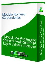 Modulo de Pagamento Redecard Komerci Integrado 2.0  5 bandeiras  Interspire